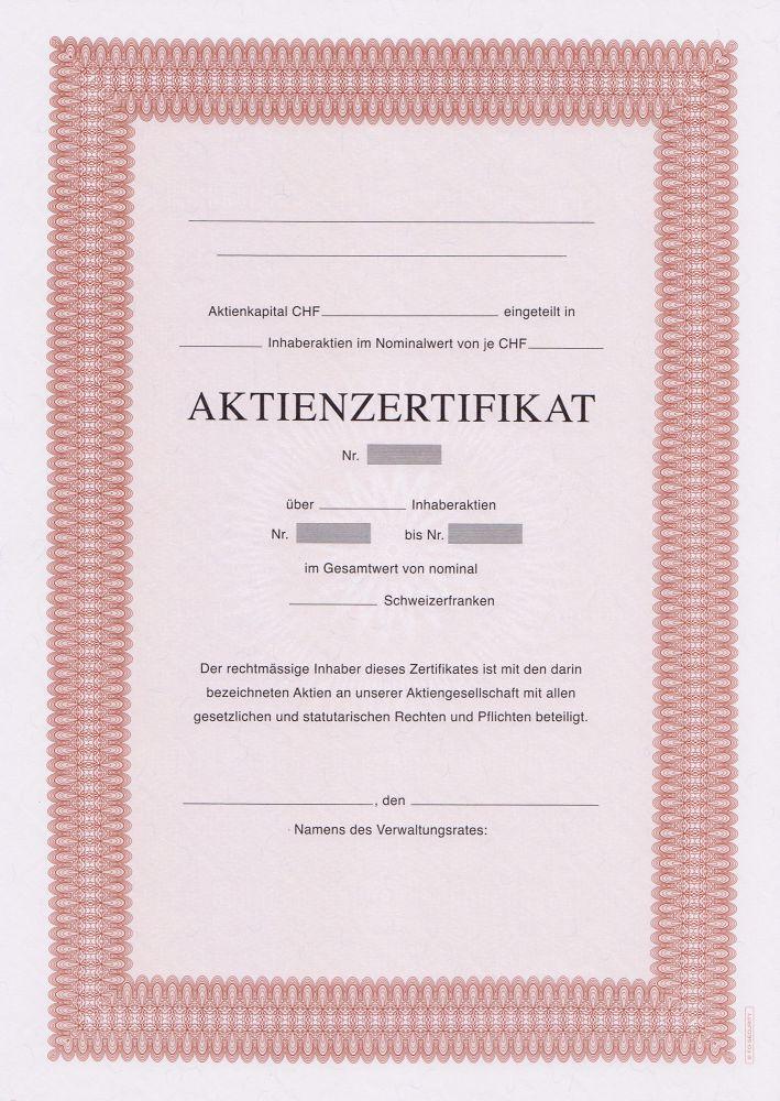 Baroque Rouge A4 Avec Texte 1 Côté 100504 Aktienzertifikate